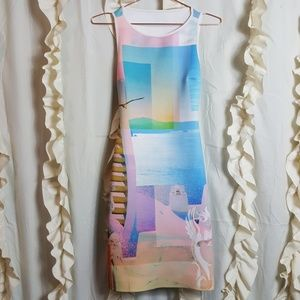Clover Canyon Greecian statue beach scuba dress